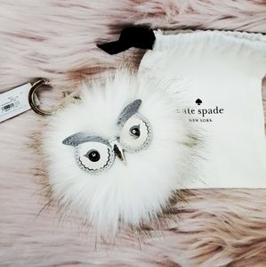 New Kate Spade Owl Keychain with tags